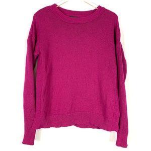 TAHARI Magenta Sweater Knit Small